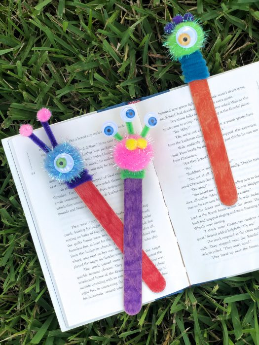 DIY Bookmark craft made with dollar store items.