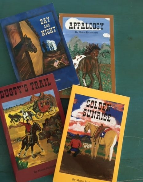 4 book covers for the Horses in History series