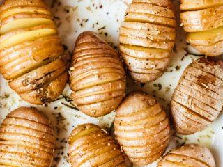 Rosemary Butter Hasselback Potatoes