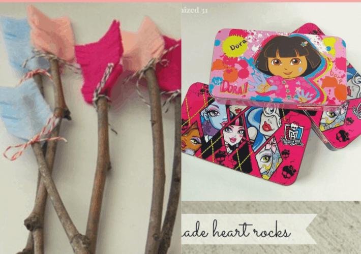 Picture of Felt Arrows, Painted rock and valentines Pencil box
