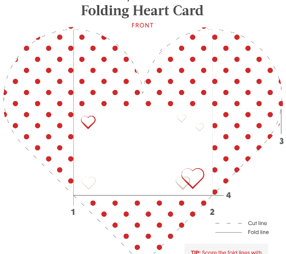 Printable Folding Valentines Heart Printable