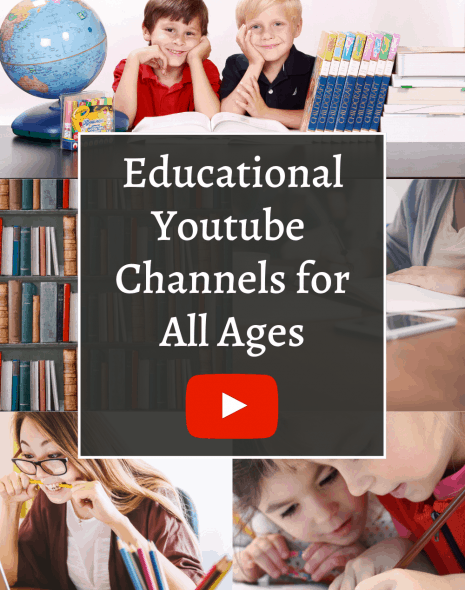 A collage photo for educational youtube channels for all ages.